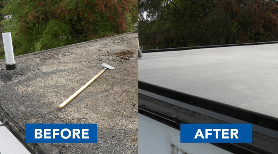 Repairing A Flat Roof