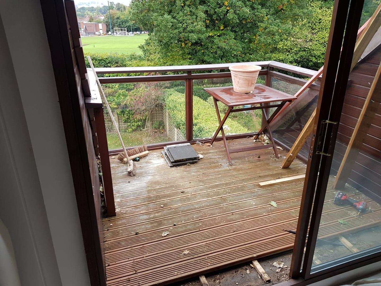 Balcony Preparation | Permaroof EPDM Clients