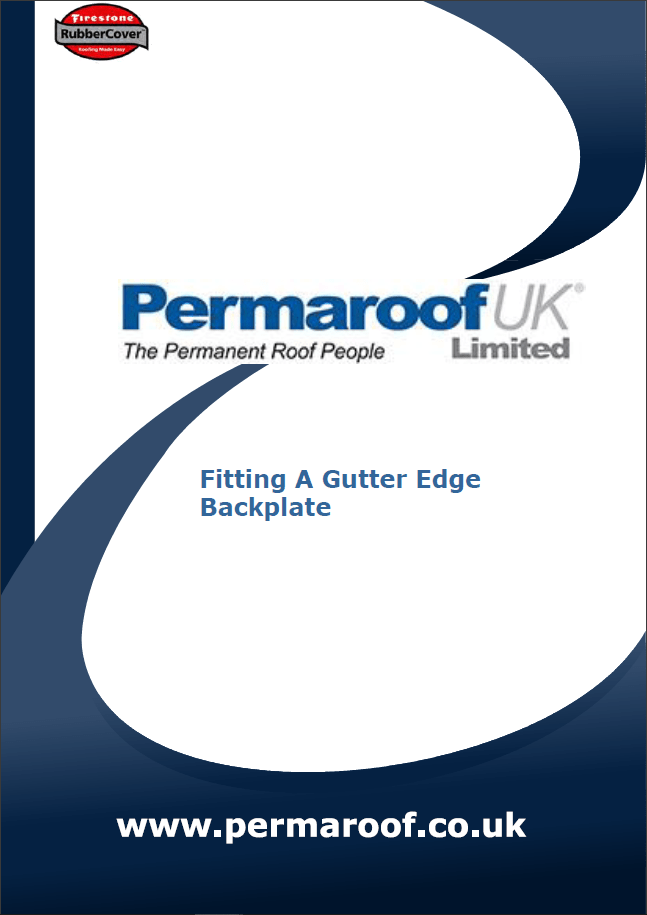 Fitting Gutter Edge Backplate