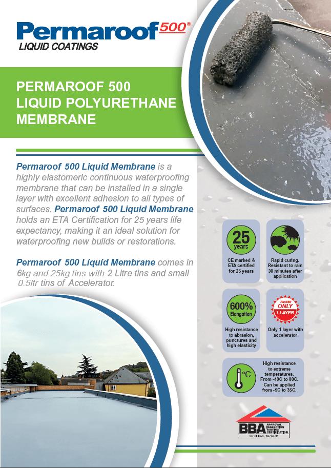 Permaroof 500 Liquid Roof System Brochure
