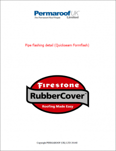 Pipe flashing detail with Quickseam Formflash - Fitting Guide