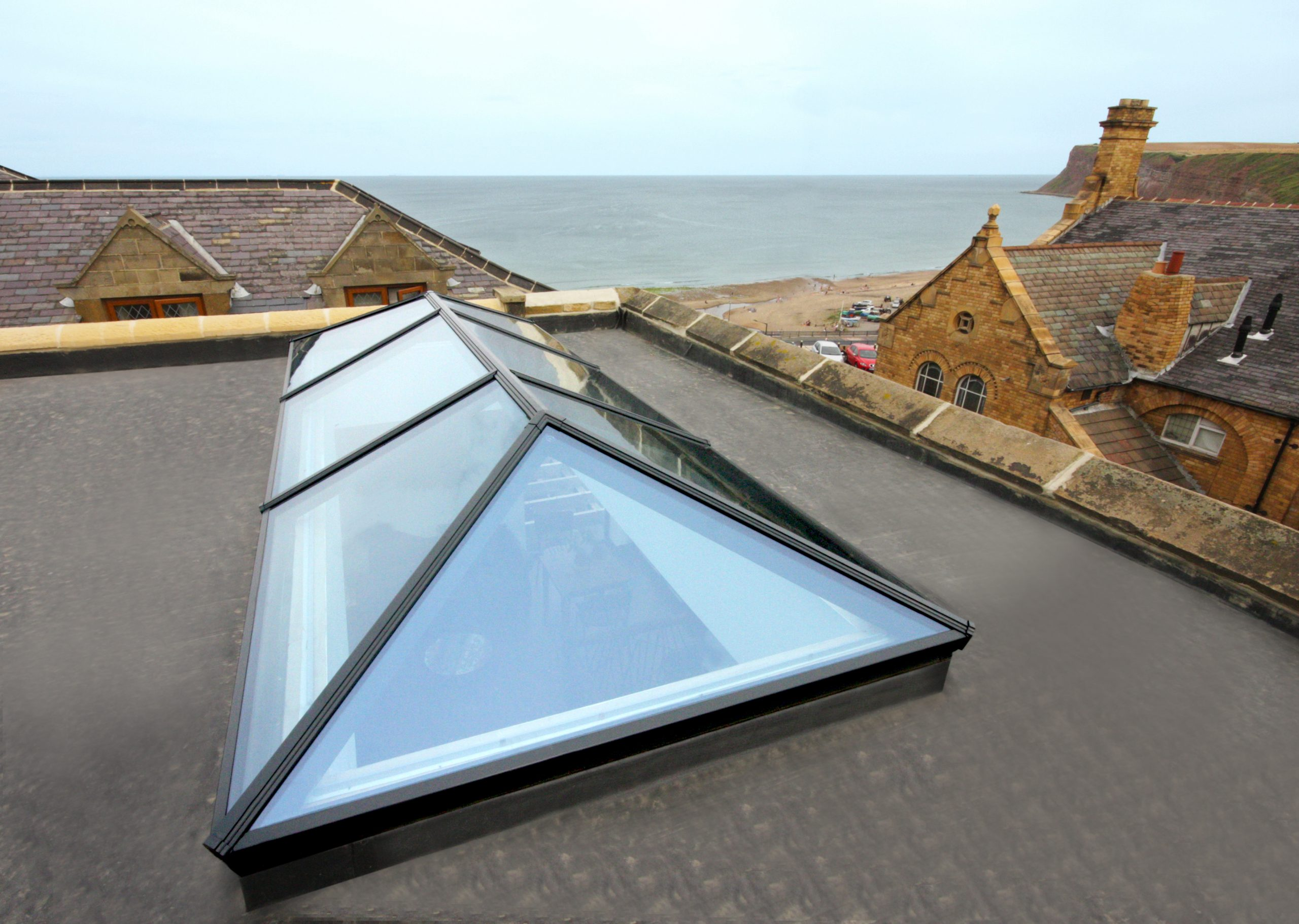 Flat Roof Skylights Permaroof Roofing Products Stunning Rooflights