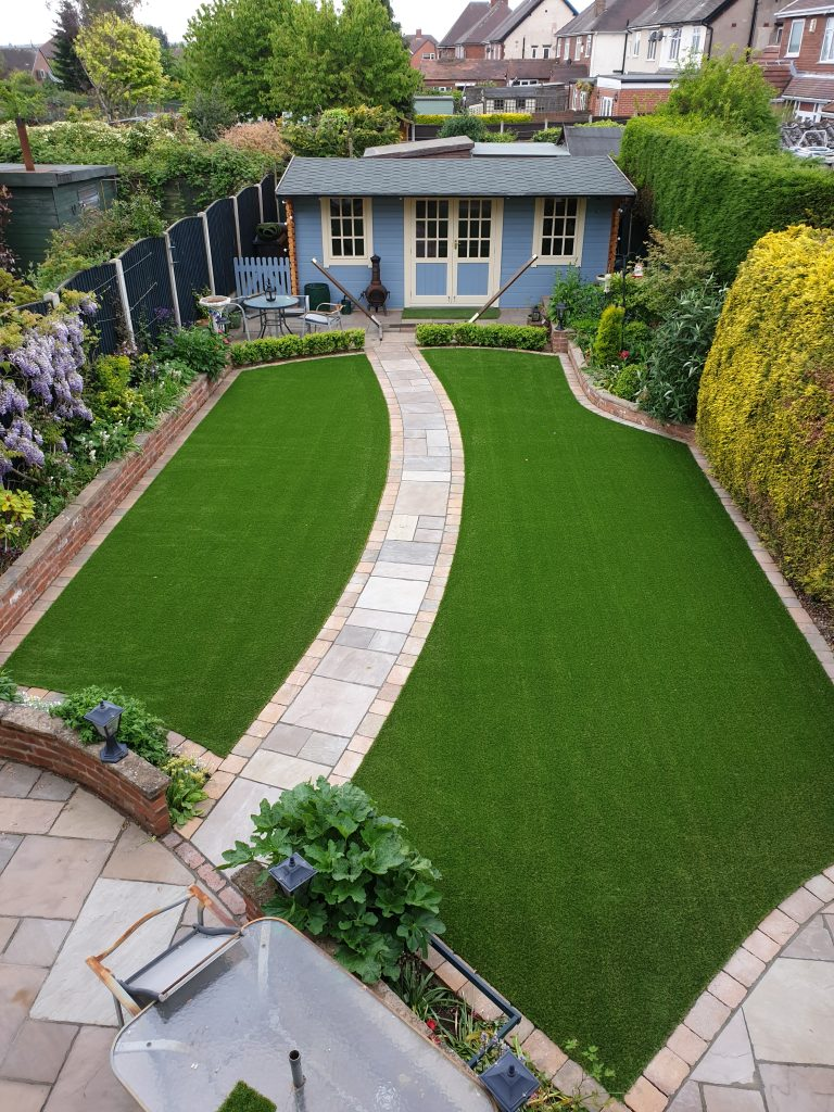Artificial grass – such as PermaLawn, pictured – is a smart, convenient and aesthetically pleasing solution.