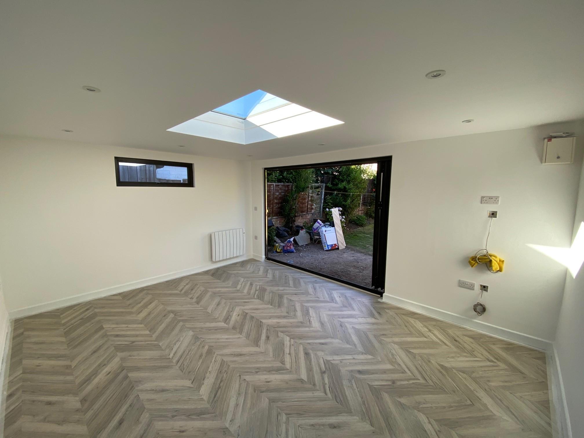 Flat Roof Garden Room Interior - TRJ Construction
