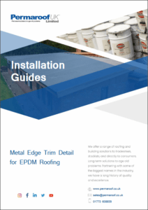 Metal Edge Trim Detail   Permaroof Installation Guides
