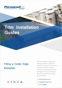 Fitting a Gutter Edge Backplate   EPDM Trim Installation